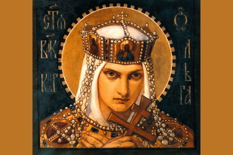 Olga of Kiev by Bruni Nikolai Alexandrovich