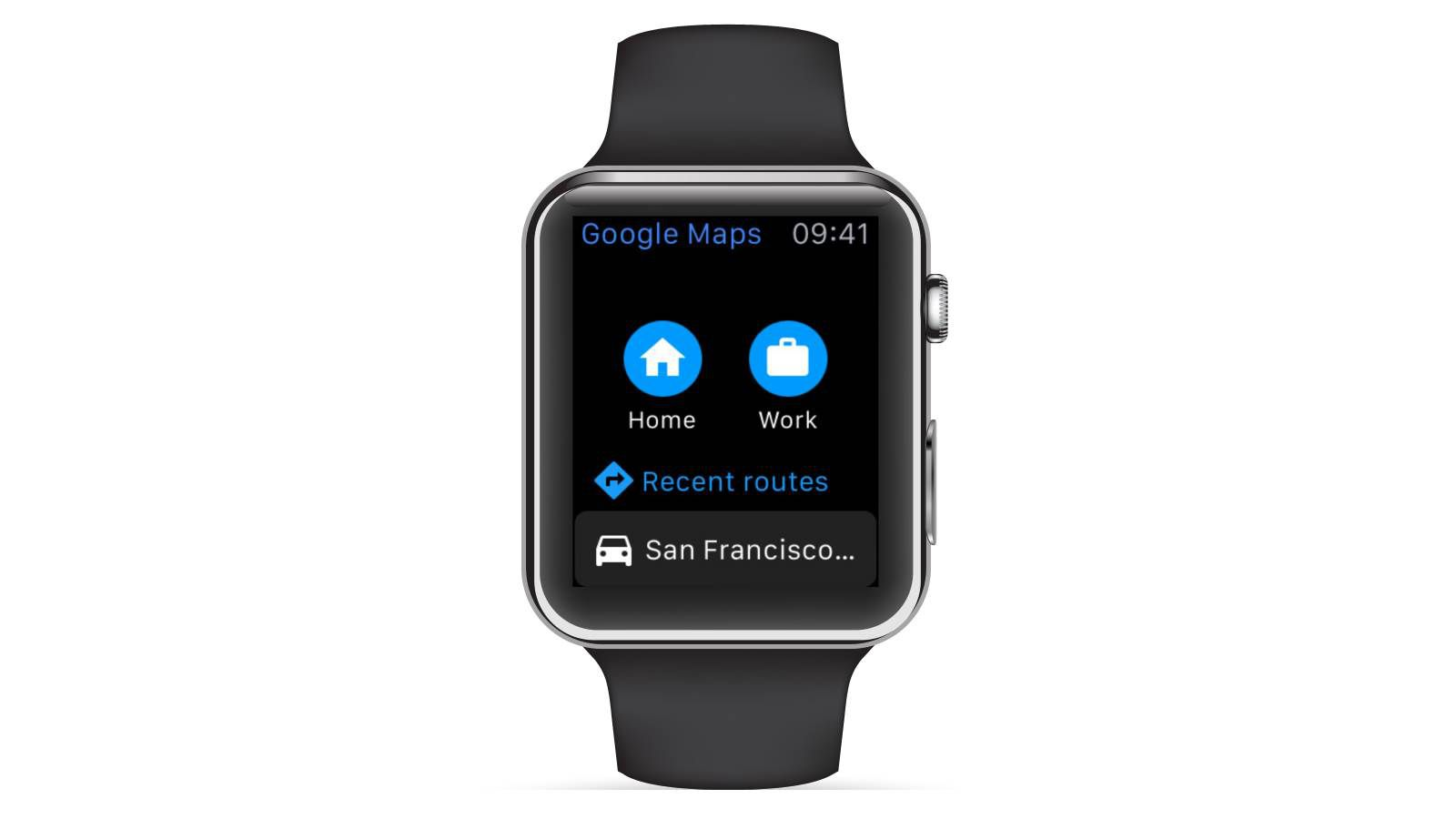 How to get google maps walking directions google maps arrives for apple watch sciox Gallery