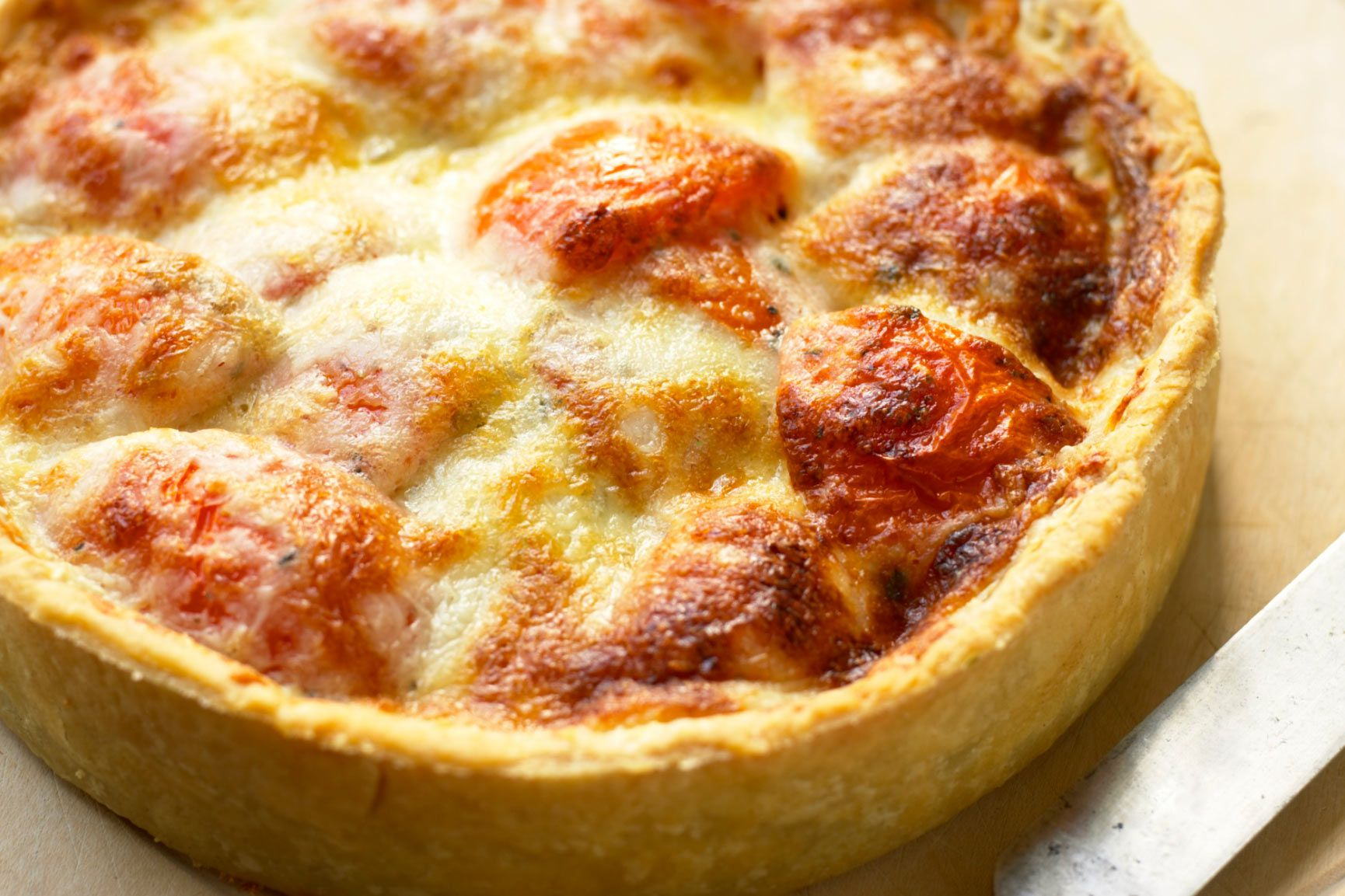Fresh Tomato Pie Recipe With Parmesan Cheese Topping