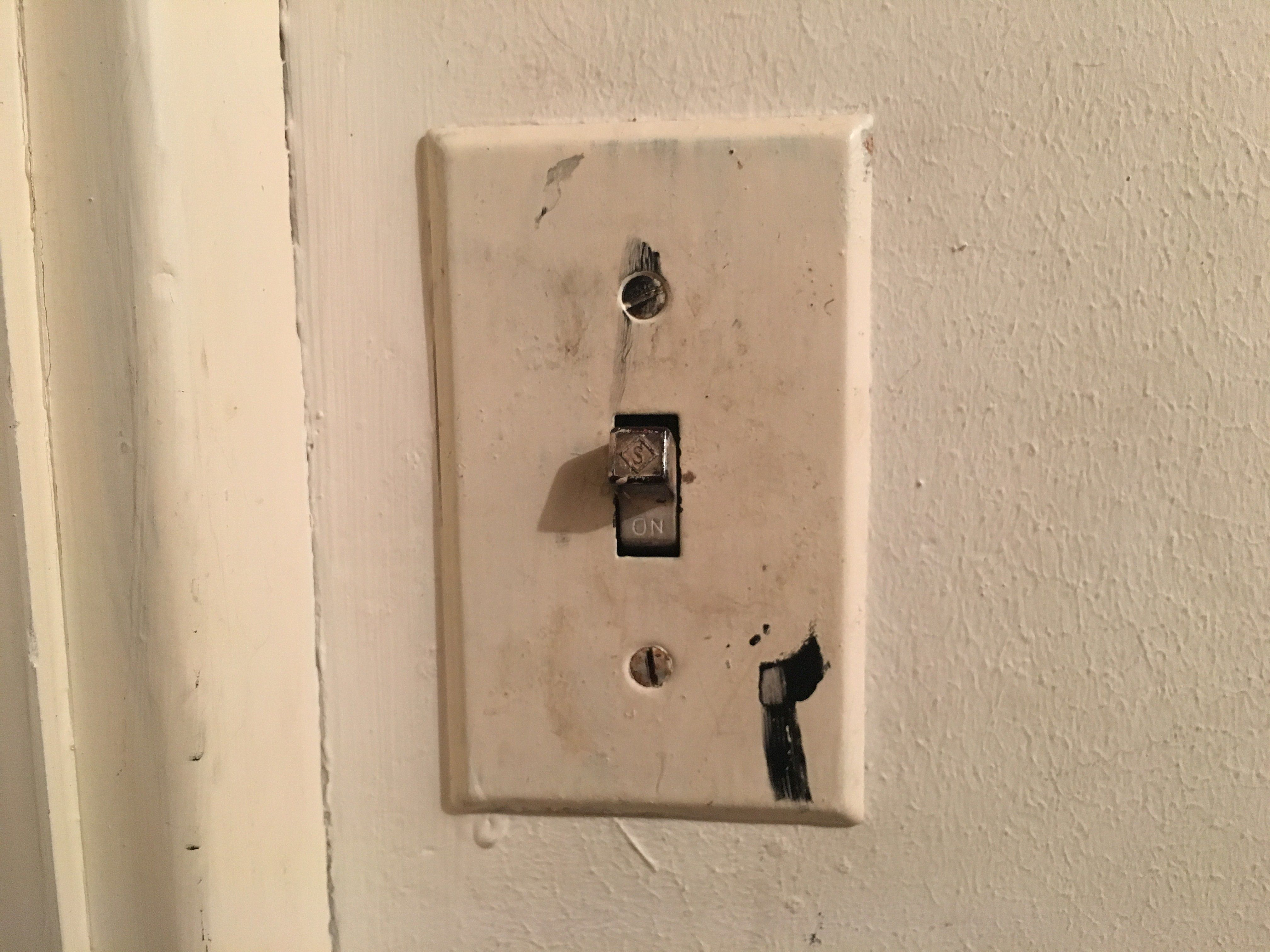 Four Light Switch Plate Replacing A Toggle Light Switch With A Rocker Switch