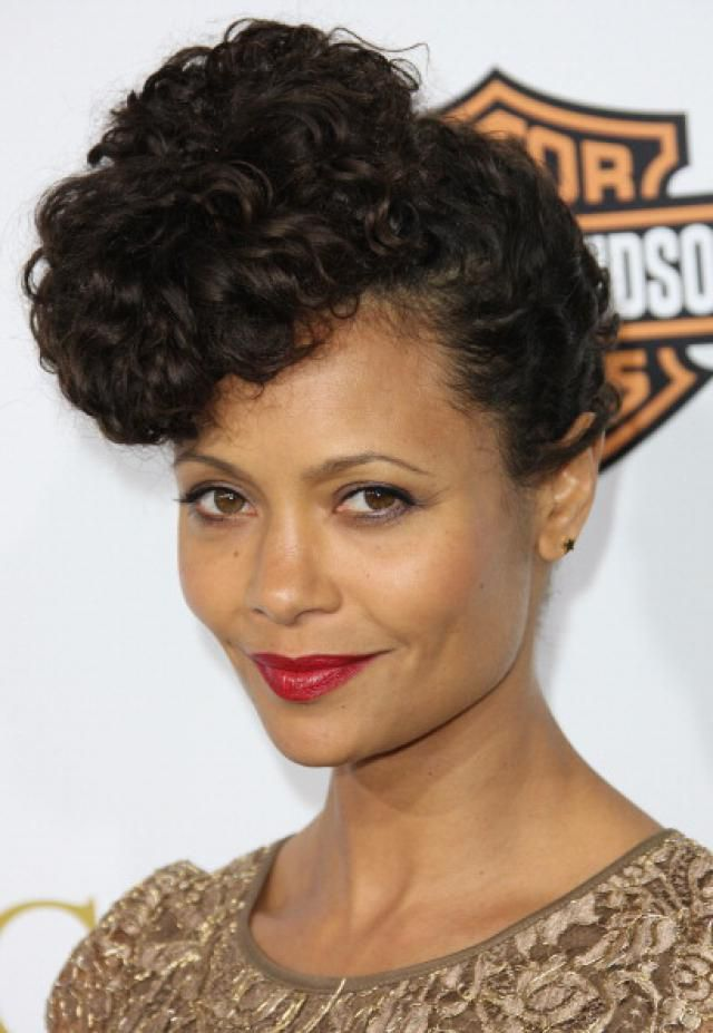 Topknot and updo hair pictures thandie newton in updo hairstyle pmusecretfo Gallery