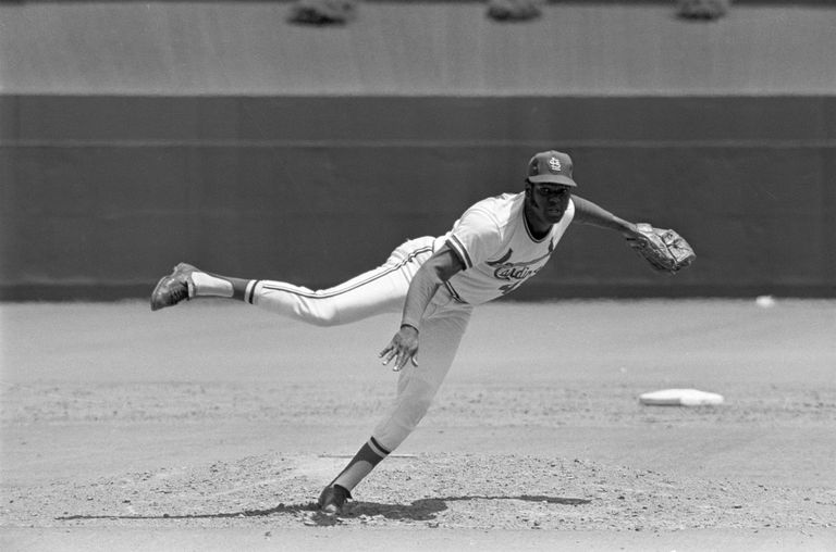 Bob Gibson Pitching Against Cubs