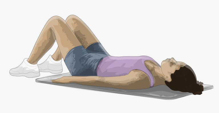 The hooklying position is a good one for doing core stabilization movements.