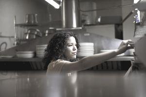 Teen working in a restaurant
