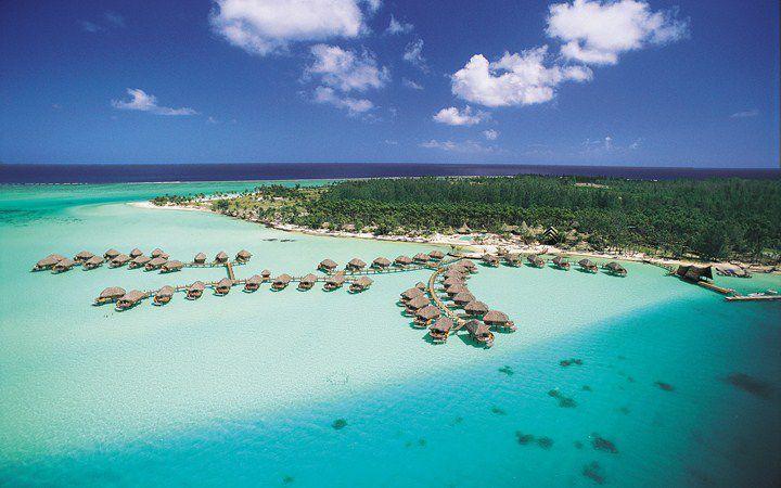 Aerial View of the Bora Bora Pearl Beach Resort & Spa
