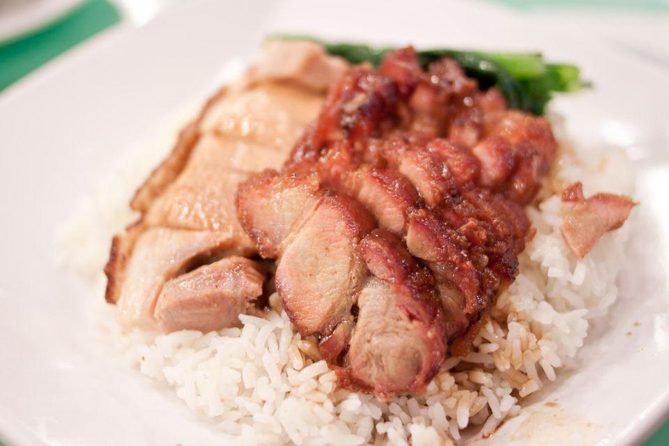 Char siu, or barbecued pork