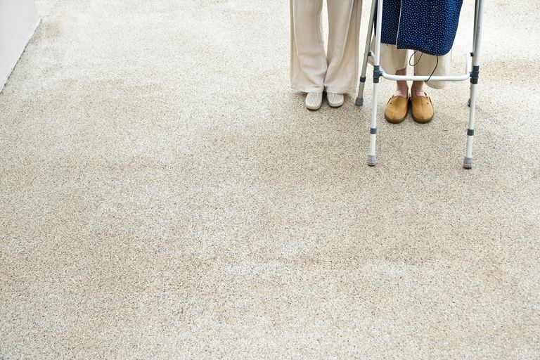 Senior and Nurse with Walking Frame