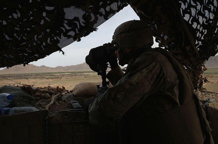 USMC standing watch