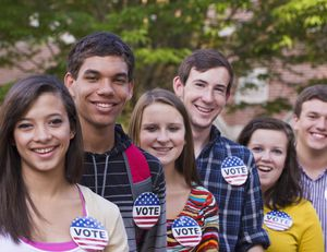 college students vote