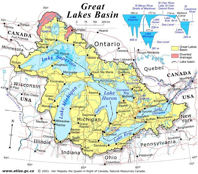Map Of Canada S Natural Resources