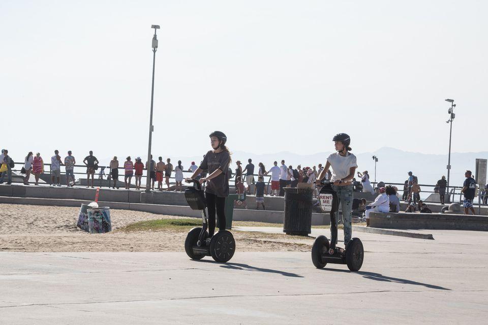 Segway Rental at Venice Beach Boardwalk, Los Angeles, CA