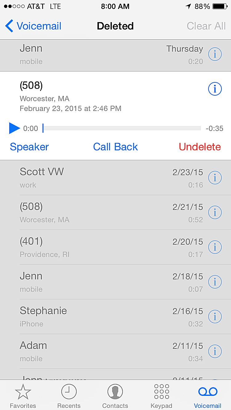 how to undelete iphone voicemails