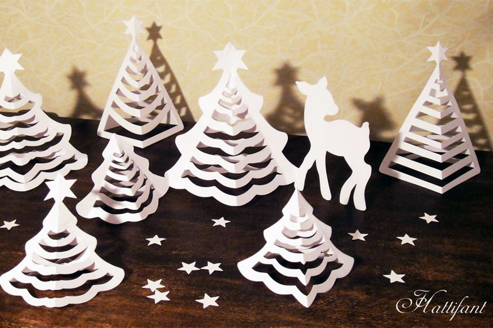 3D papercut Christmas ornaments