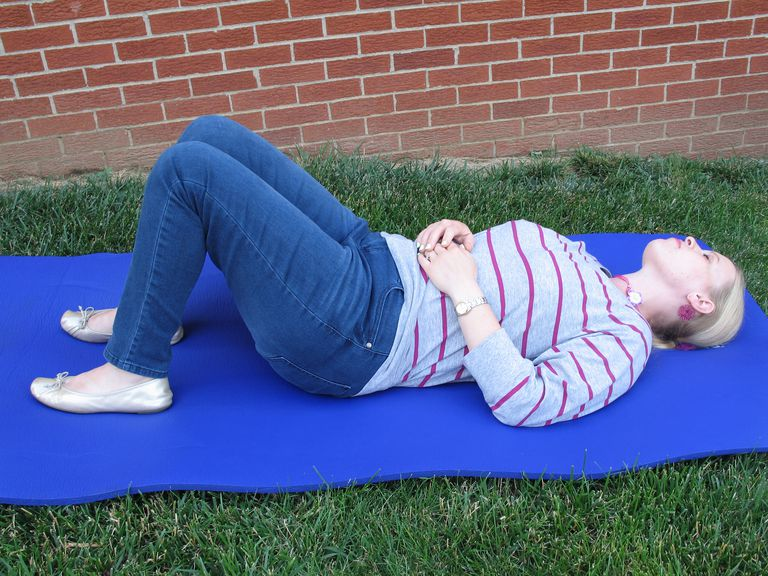 Here is a demonstration how to lie down and breathe.