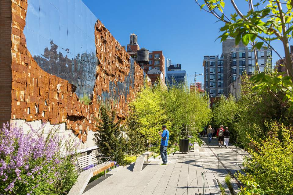 The High Line, aboveground park, in New York City