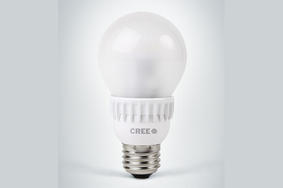 A standard LED light bulb