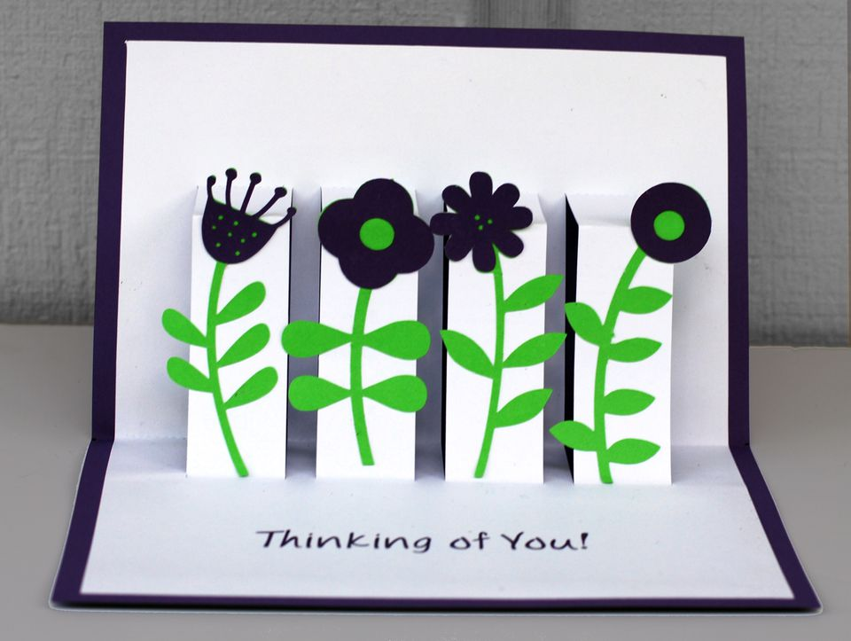 Learn how to make a floral pop up greeting card for Pop up card craft