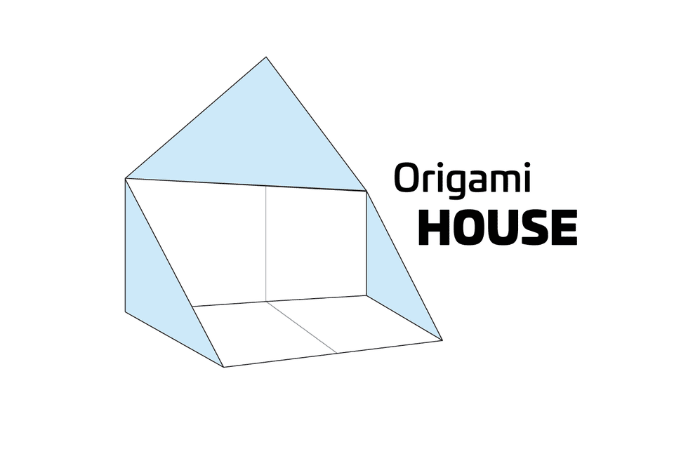 How to make a simple origami house for Creating a minimalist home