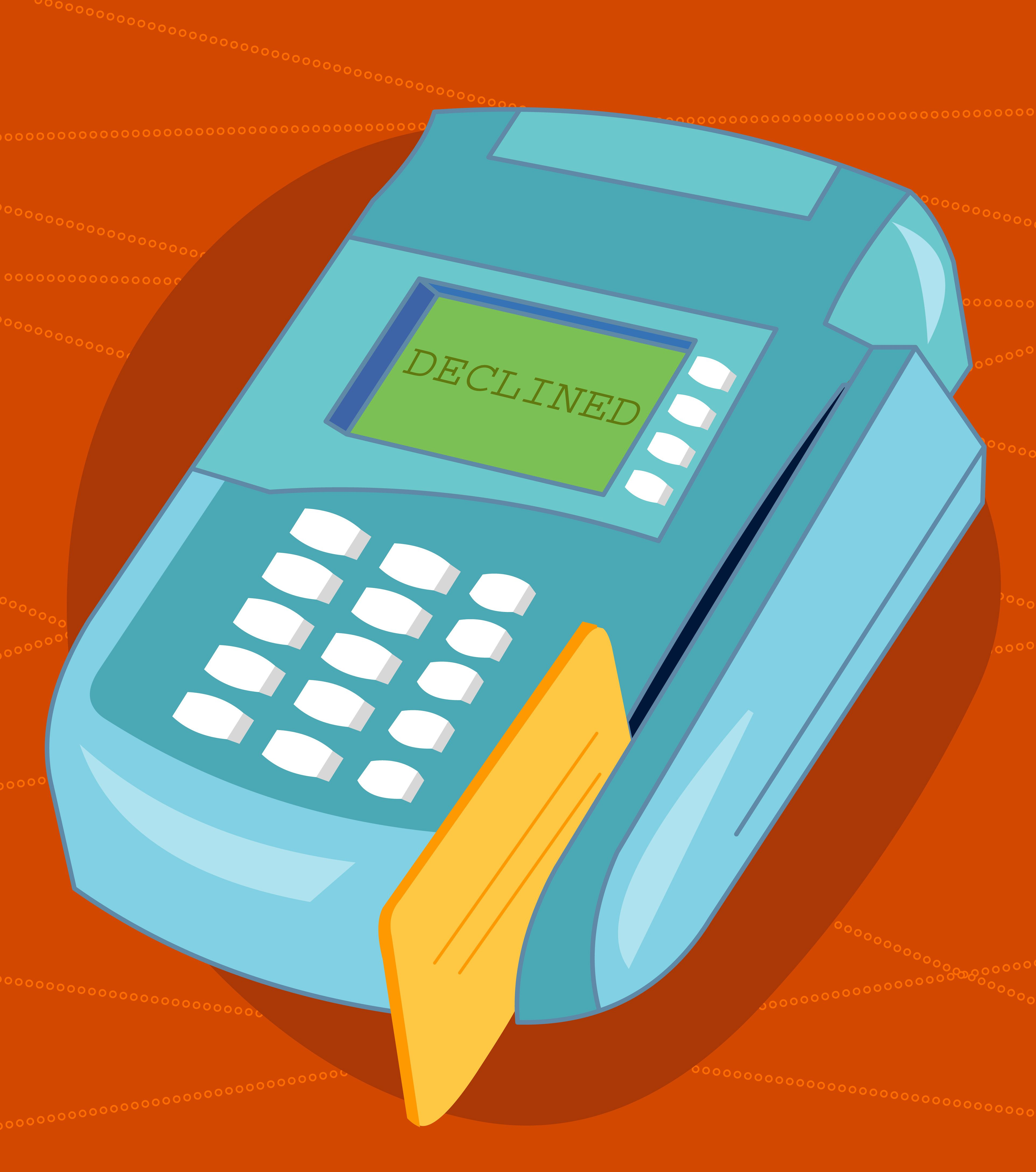 You bounced a check what happens now declined message on credit card reader magicingreecefo Choice Image