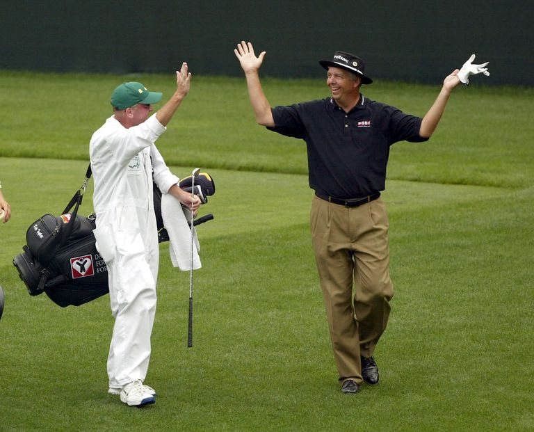 Kirk Triplett hole in one during 2004 Masters