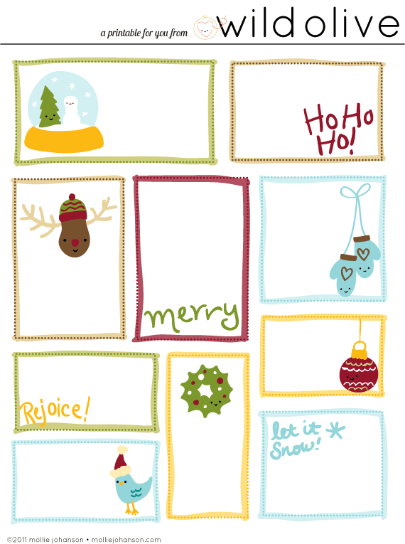 41 sets of free printable christmas gift tags negle Image collections
