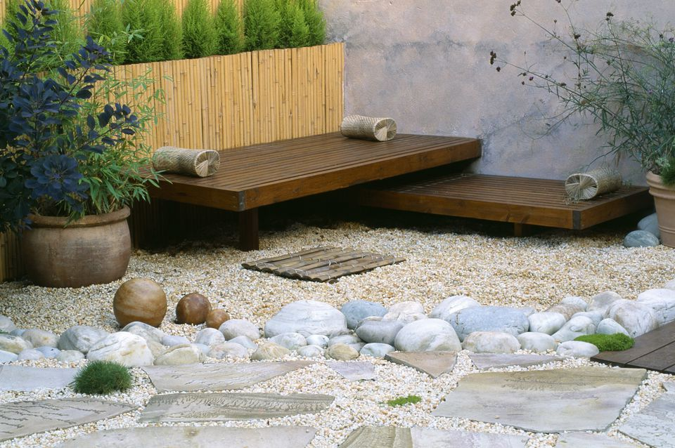 mixed materials patio - Design Backyard Patio