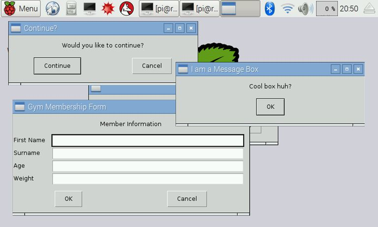 EasyGUI Message Boxes