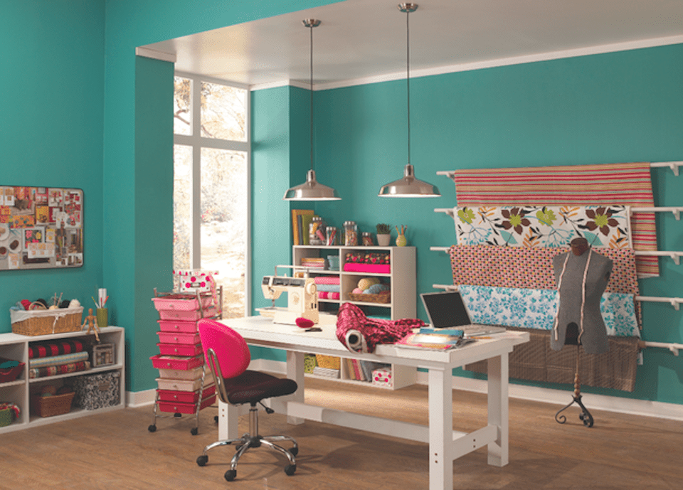The 6 Best Paint Colors That Work In Any Home: Top Home Office Color Ideas