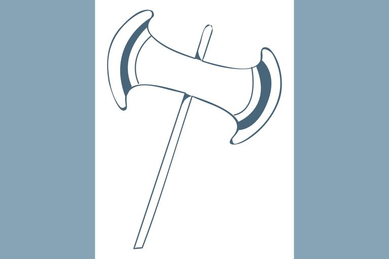 Illustration of a labrys, Cretan two-headed axe