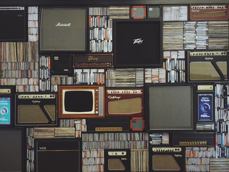 Library With Old Tapes