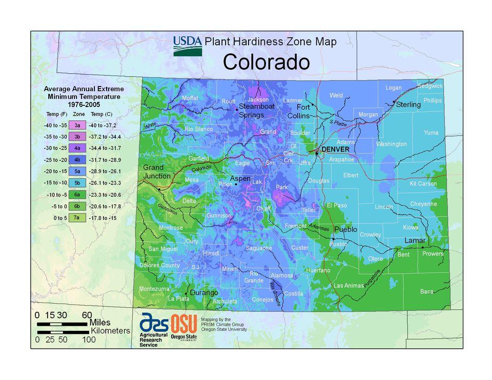 State Maps Of USDA Plant Hardiness Zones - Us hardiness zone map