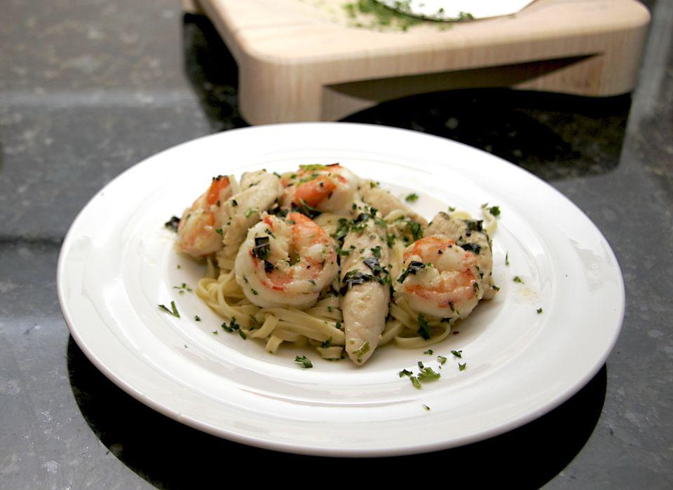 Garlic Chicken and Shrimp