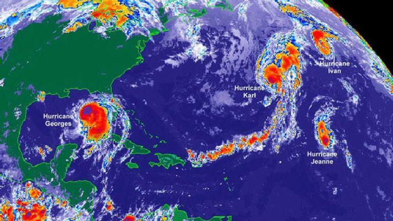 simultaneous hurricanes Atlantic