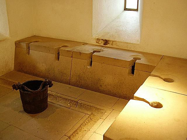 Reconstructed Roman Latrine