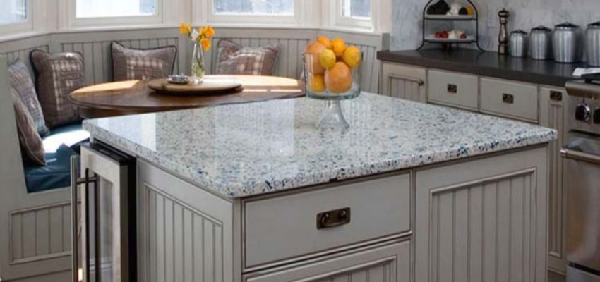 Recycled Glass Slab Countertop