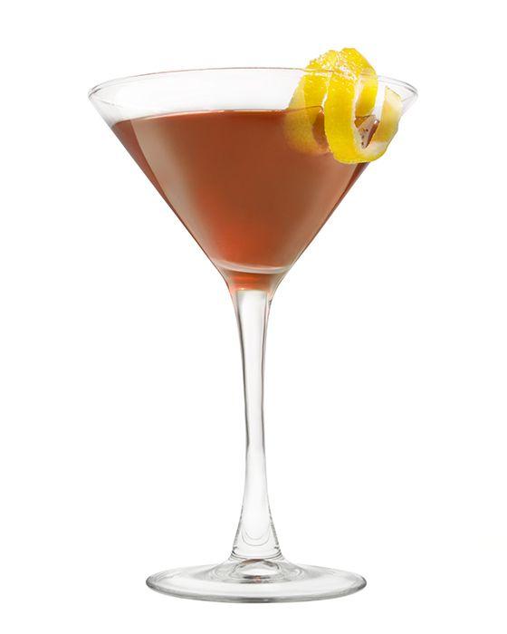 Red Martini with Lemon Twist