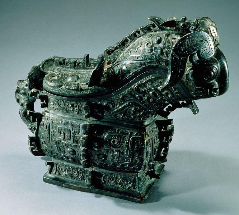 Western Zhou Dynasty Bronze Ram-Headed Gong
