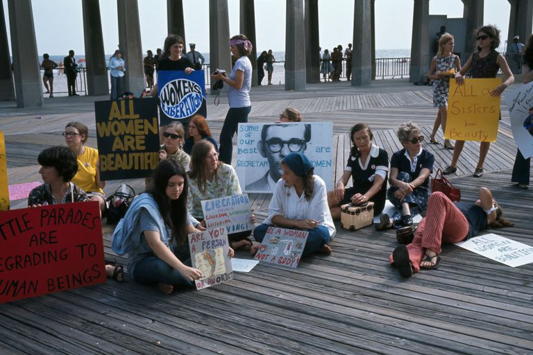Feminists protest Miss America pageant in Atlantic City, 1969