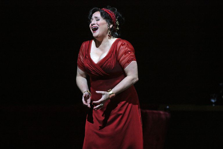 Patricia Racette performs the as Tosca.