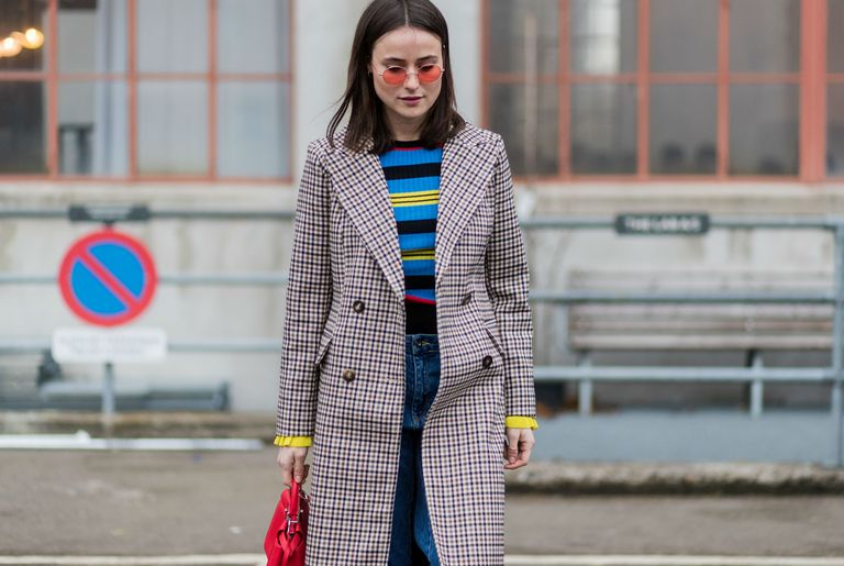Street style denim and stripes