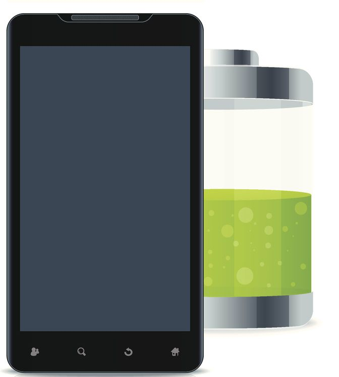 Illustration of a smartphone with a large low battery
