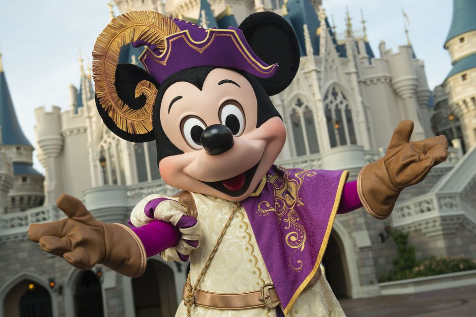 Mickey Mouse in Mickey's Royal Firendship Faire show at Disney's Magic Kingdom.