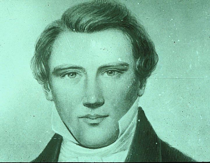 Joseph Smith early portrait green