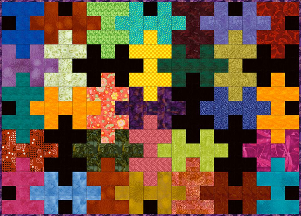 Easy Jigsaw Puzzle Quilt Pattern