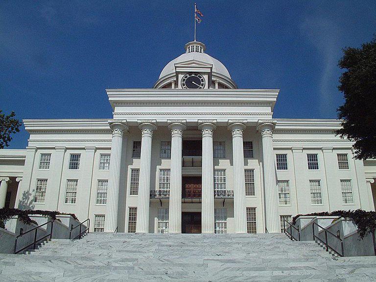 Steps of the Alabama Statehouse