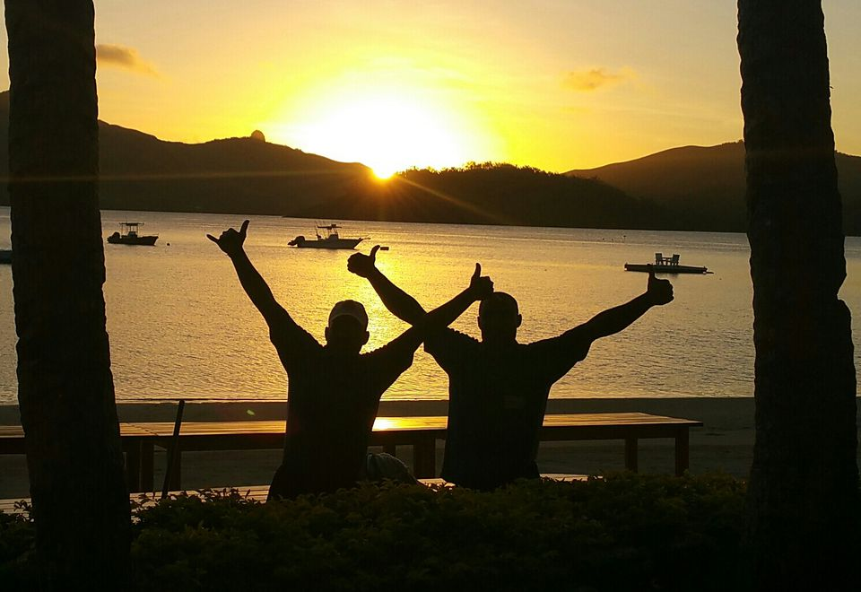 Sunset at Turtle Island Fiji