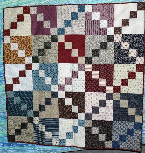 Double Four Patch Scrap Quilt Pattern