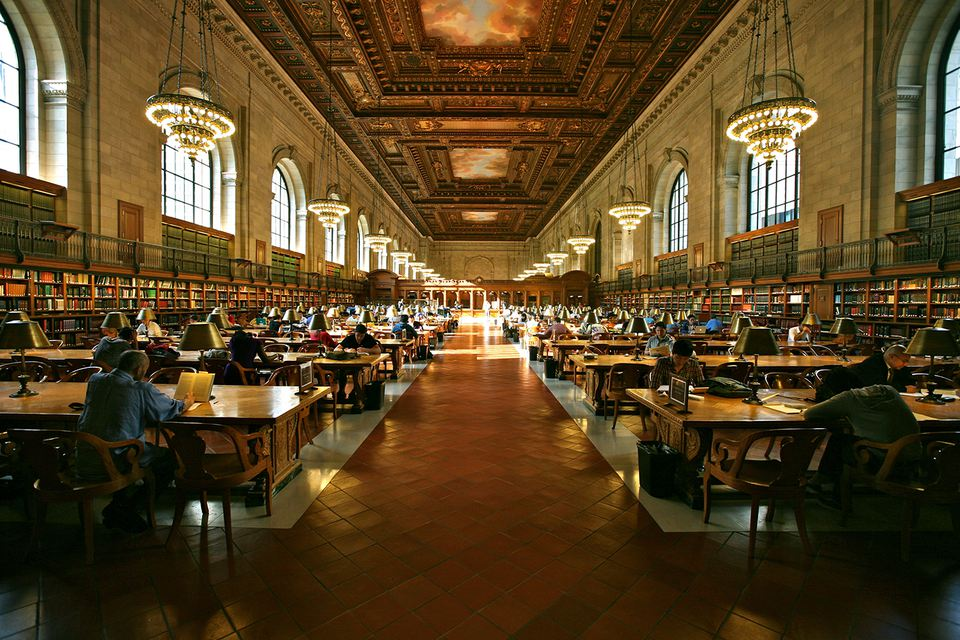 The New York Public Library Reading Room