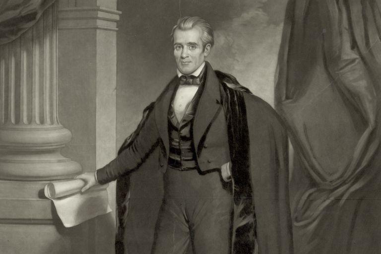 Engraved Portrait of President James K. Polk