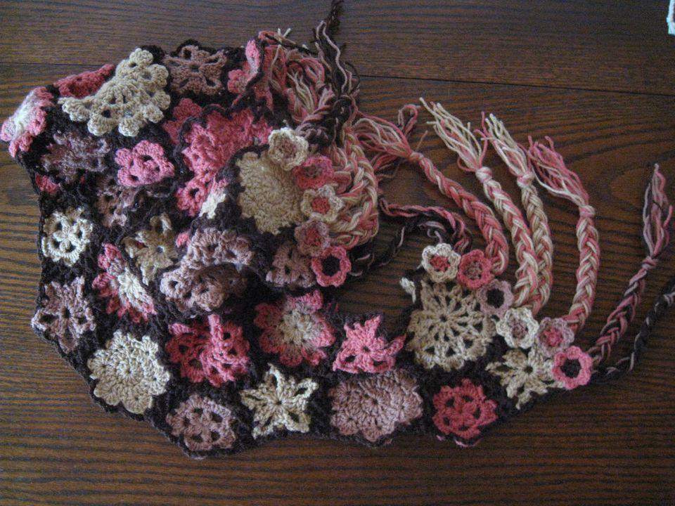 Crochet Braid Scarf Fringe